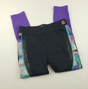 Fila womens large full length colorful purple blue